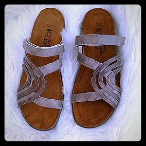 Brand new, still in the box Naot sandals size 7